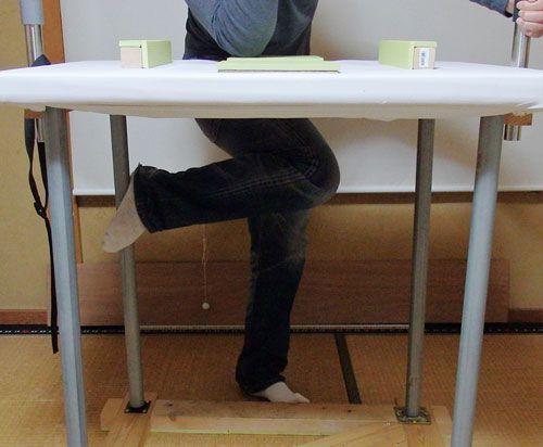 アームレスリング噛み手の足の位置