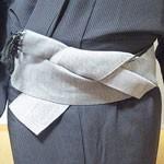 男性の浴衣の着方、帯の結び方